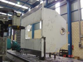 Máquina para sector papelero. Mecanizados de grandes dimensiones ALLUR 08